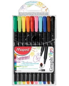 Liner 10 culori/set, varf 0,4mm, Graph'Peps Maped