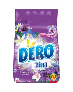 Detergent pudra pentru tesaturi, automat, 2kg, 2in1 Levantica si Iasomie Dero