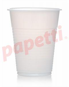 Pahare plastic albe, 100ml, 100buc/set, economice