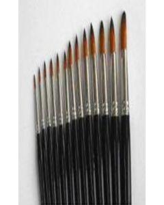 Pensula nr.4 pt. acuarela, par sintetic, varf rotund, T2000