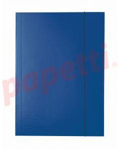 Mapa din carton plastifiat cu elastic A4, albastru inchis, Economy Esselte