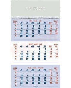 Calendar triptic de perete, clasic, 33cm x 48cm, EGO