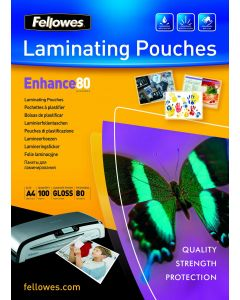 Folie de laminator, A4, 80 microni Fellowes