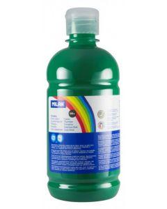 Tempera pe culoare, tub 500ml, verde inchis, Milan