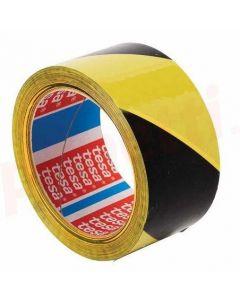 Banda adeziva marcare, PVC galben/negru, 50mm x 33m, Tesa