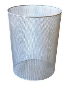 Cos metal pentru gunoi, argintiu, Mesh Ecada