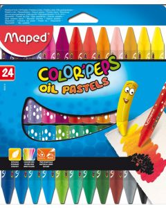 Creioane colorate cerate pe baza de ulei, 18culori/set, Color Peps Oil Pastels Maped