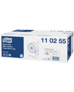 Hartie igienica alba cu imprimeuri, pentru dispenser, 3 straturi, 120ml, Tork Extra Soft 110255