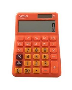 Calculator de birou 12 digit, portocaliu, Noki HCS001T