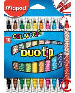 Carioca 2 varfuri, 10culori/set Color Peps Duo Tip Maped