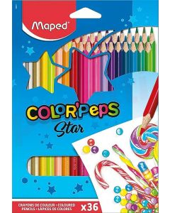 Creioane colorate 36culori/set, Color Peps Maped