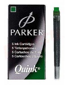 Patroane lungi, cerneala verde, 5buc/set, Quink Standard S0116230 Parker