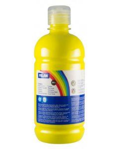 Tempera pe culoare, tub 500ml, galben inchis, Milan