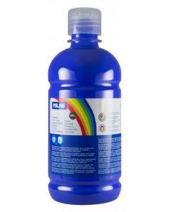 Tempera pe culoare, tub 500ml, albastru inchis, Milan