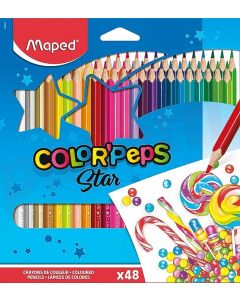 Creioane colorate 48culori/set, Color Peps Maped