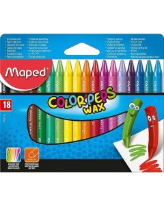 Creioane colorate cerate, 18culori/set, Color Peps Wax Maped