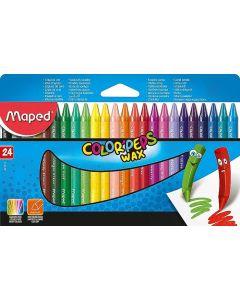Creioane colorate cerate, 24culori/set, Color Peps Wax Maped
