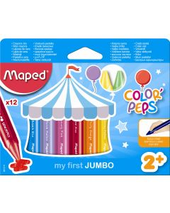 Creioane colorate cerate, 12culori/set, Color Peps My First Jumbo Maped