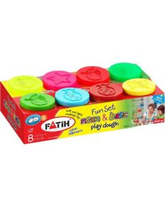 Plastilina usoara, 4 culori normale + 4 culori neon, Basic + Neon Modeling Dough Fatih
