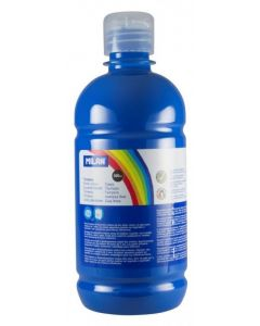 Tempera pe culoare, tub 500ml, albastru deschis, Milan