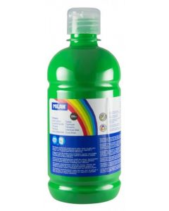 Tempera pe culoare, tub 500ml, verde deschis, Milan