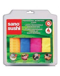 Lavete profesionale din microfibra 4buc/set, Sushi Sano
