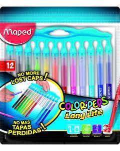 Carioca 12 culori/set Color Peps Long Life Innovation Maped