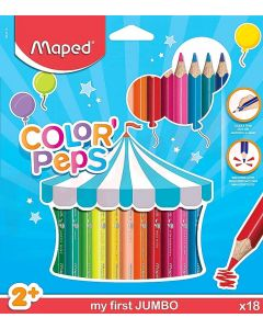 Creioane colorate 18culori/set, Color Peps My First Jumbo Maped