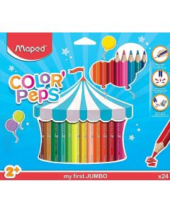 Creioane colorate 24culori/set, Color Peps My First Jumbo Maped