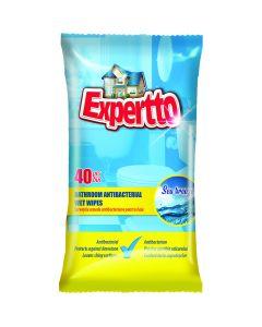 Servetele umede antibacteriene pt. baie, 40 buc/pachet, Expertto