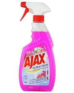Detergent cu pulverizator ptr. geamuri, oglinzi, 500ml, Pink Floral Fiesta Ajax