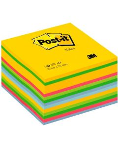 Notes autoadeziv cub 76mm x 76mm, 450 file/set, culori neon Ultra Post-it 3M