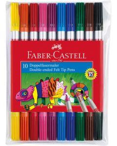 Carioca 2 varfuri, 10culori/set Faber Castell