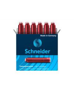 Patroane scurte, cerneala rosie, 6buc/set, Schneider