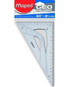 Echer plastic transparent, unghi 60 grade, 21cm, Maped