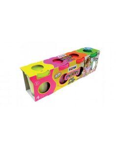 Plastilina usoara, 4 culori neon, Modeling Dough Fatih