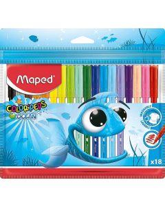 Carioca 18 culori/set Color Peps Ocean Maped
