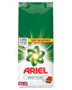 Detergent pudra pentru tesaturi, automat, 10kg, White&Color Ariel