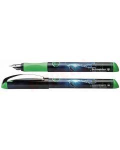 Stilou plastic, corp verde, Schneider Inx Sportive