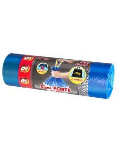 Saci menajeri cu snur albastri, grosi, 35L, 50x60cm, 15buc/rola, Forte