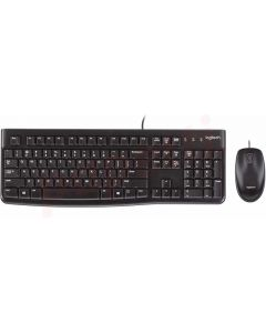 Kit tastatura cu fir si mouse optic cu fir, MK120 Logitech