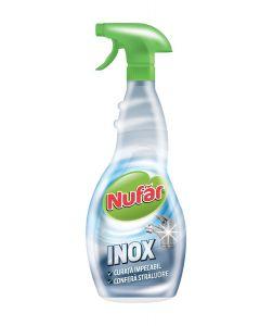 Detergent cu pulverizator ptr. curatarea suprafetelor din inox, 500ml, Nufar