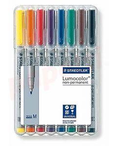 Non-permanent marker 8buc/set, varf 1,0 mm, Lumocolor 315WP8 Staedtler