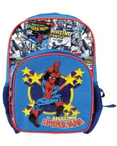 Ghiozdan scolar clasa 0, SMRS1842-1, albastru, Comics Spiderman Pigna