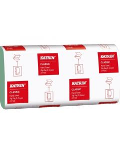 Servetele in V pentru dispenser, verzi, 23,2x23cm, 2 straturi, 150 foi/set Classic Katrin