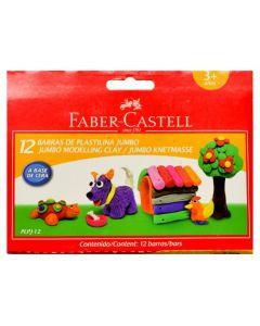 Plastilina in cutie, 12 culori/set, 160g, 120811 Faber Castell