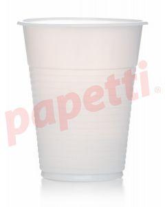 Pahare plastic albe, 200ml, 100buc/set Presto