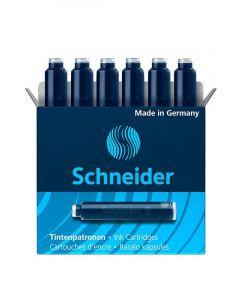 Patroane scurte, cerneala albastra, 6buc/set, Schneider
