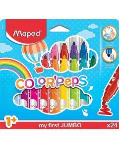 Carioca 24 culori/set Color Peps My First Jumbo Maped