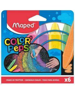 Creta ptr. pavaj, color, 6buc/cutie, Color Peps Maped